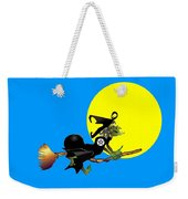 Flying Pentacle Witch Weekender Tote Bag