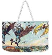 Flying Policemen, 1900s French Postcard Weekender Tote Bag