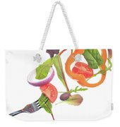 Flying Salad Weekender Tote Bag