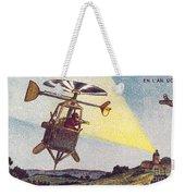 Flying Sentinel, 1900s French Postcard Weekender Tote Bag