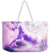 Flying Space Galaxy Unicorn Weekender Tote Bag