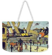 Flying Taxicabs, 1900s French Postcard Weekender Tote Bag
