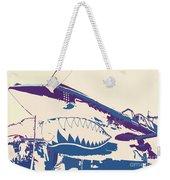 Flying Tiger Blue Purple  Weekender Tote Bag
