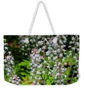 Foam Flower Tiarella Cordifolia Weekender Tote Bag