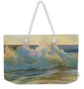Foaming Waves At Beach Weekender Tote Bag