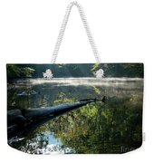 Fog And Reflection Of Stream Weekender Tote Bag