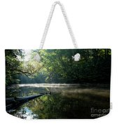 Fog And Reflection On Stream Weekender Tote Bag