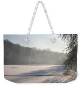 Fog And Snow Weekender Tote Bag