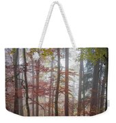 Fog In Autumn Forest Weekender Tote Bag
