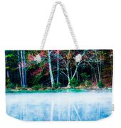 Fog On The Lake Weekender Tote Bag