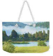 Fog On The Road To Mccall Weekender Tote Bag
