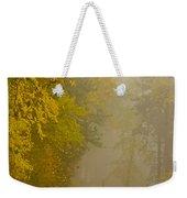 Foggy Autumn Morn Weekender Tote Bag
