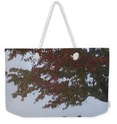 Foggy Autumn Morning In Cades Cove Weekender Tote Bag
