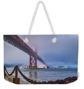 Foggy Day At The Golden Gate Bridge Weekender Tote Bag