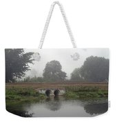 Foggy Day On A Canal Weekender Tote Bag