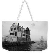 Foggy Day Sail Weekender Tote Bag