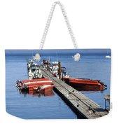 Foggy Dock Weekender Tote Bag