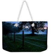 Foggy Evening In Vermont - Portrait Weekender Tote Bag
