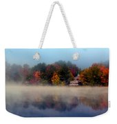 Foggy Fall Reflections Weekender Tote Bag