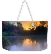 Foggy Fall Sunrise Weekender Tote Bag