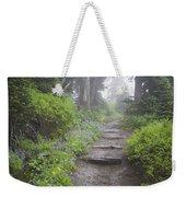 Foggy Forest Path Weekender Tote Bag
