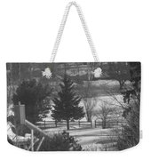 Foggy Frosty Morning Weekender Tote Bag