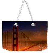 Foggy Golden Gate At Sunset Weekender Tote Bag
