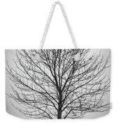 Foggy Lone Tree Hill Fine Art Weekender Tote Bag