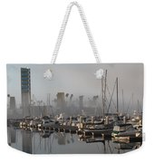 Foggy Marina Morning 2 Weekender Tote Bag