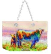 Foggy Mist Cows #0090 Arty Weekender Tote Bag