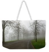 Foggy Morning At The Park Winding Path Weekender Tote Bag