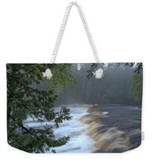 Foggy Morning On Lower Tahquamenon Falls Weekender Tote Bag