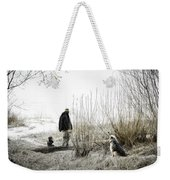 Foggy Morning On The Beach... Weekender Tote Bag