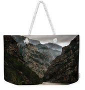 Foggy Mountains Over Neretva Gorge Weekender Tote Bag