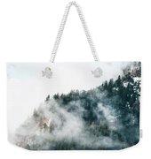 Foggy Mountains Weekender Tote Bag