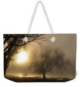 Foggy November Sunrise On The Bay Weekender Tote Bag