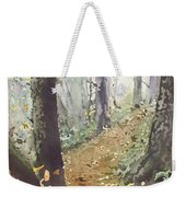 Foggy Path Weekender Tote Bag