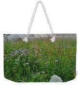 Foggy Prairie In Glacial Park In Mchenry County Weekender Tote Bag