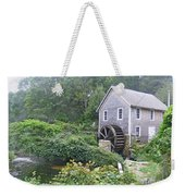Foggy Stony Brook Grist Mill Cape Cod Weekender Tote Bag