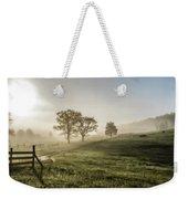 Foggy Sun Rise Weekender Tote Bag