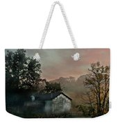 Foggy Sunrise In The Mountains Weekender Tote Bag