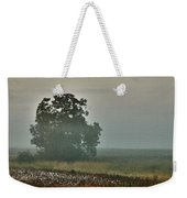 Foggy Tree In The Field Weekender Tote Bag