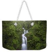 Foggy Waterfall Weekender Tote Bag