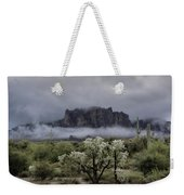 Foggy Winter Morning In The Supes  Weekender Tote Bag
