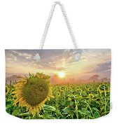 Foggy Yellow Fields 3 Weekender Tote Bag