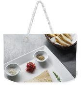 Foie Gras French Traditional Duck Pate With Bread  Weekender Tote Bag