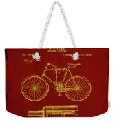 Folding Bycycle Patent Drawing 1f Weekender Tote Bag