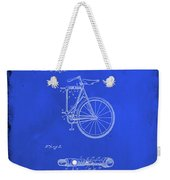 Folding Bycycle Patent Drawing 2d Weekender Tote Bag