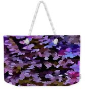 Foliage Abstract In Blue, Pink And Sienna Weekender Tote Bag