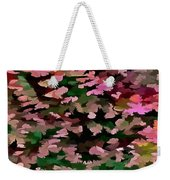 Foliage Abstract In Pink, Peach And Green Weekender Tote Bag